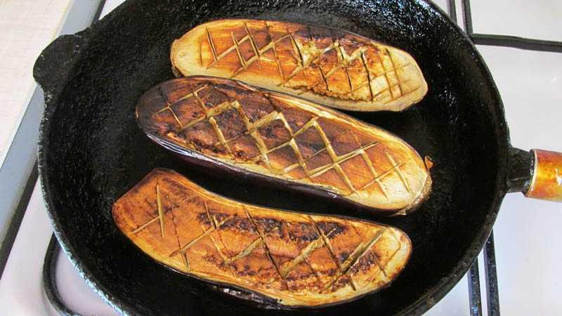 Заготовка печёных баклажанов для заморозки