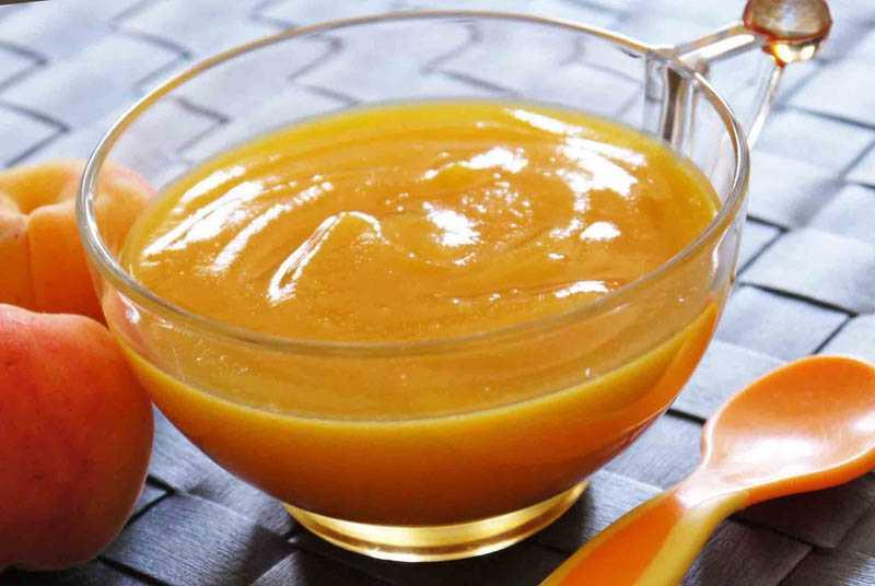 Заморозка пюре из абрикосов