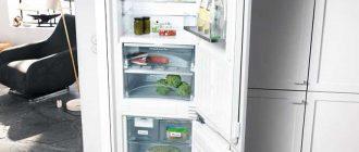 Встраивыемые холодильники в кухне