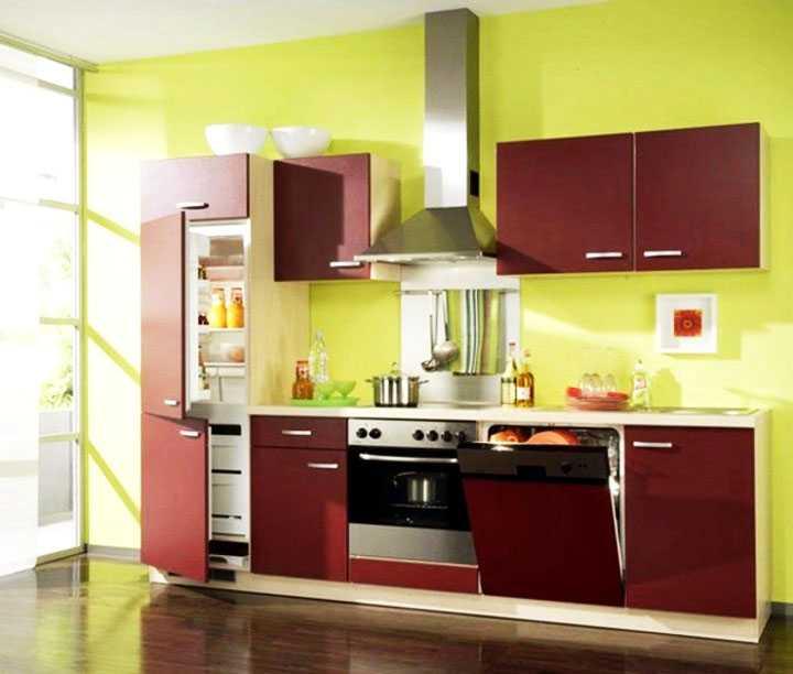 Как выглядит встроенный холодильник