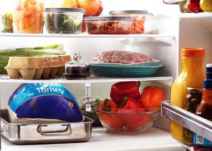 Наполненный продуктами холодильник