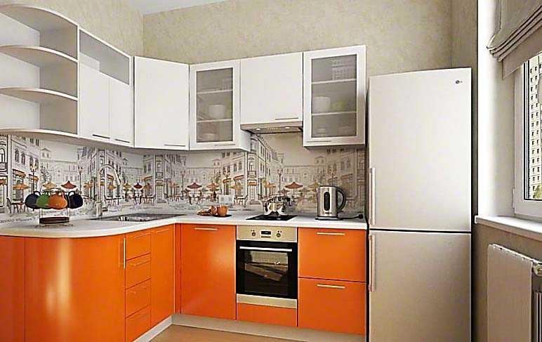 Место холодильника в кухне