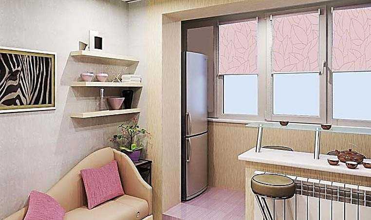 Объединение кухни с другими комнатами