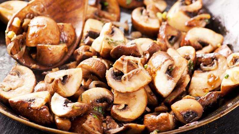 Заготовка жареных грибов