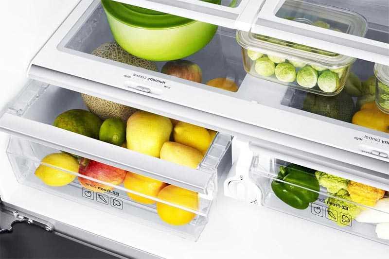 Конструкция зоны свежести в холодильнике