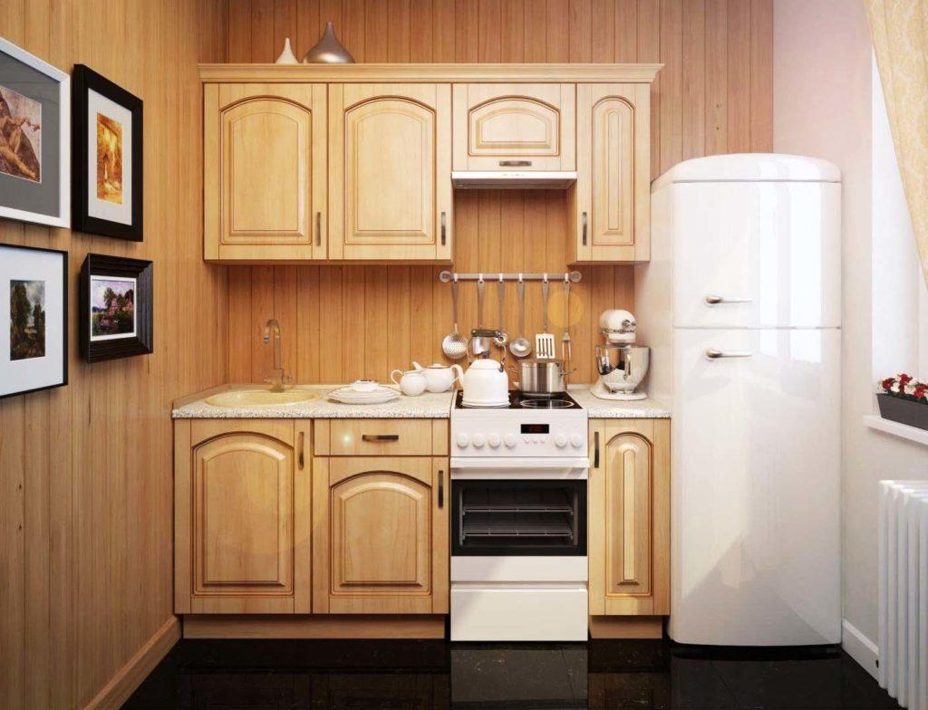 Как разместить холодильник на маленькой кухне