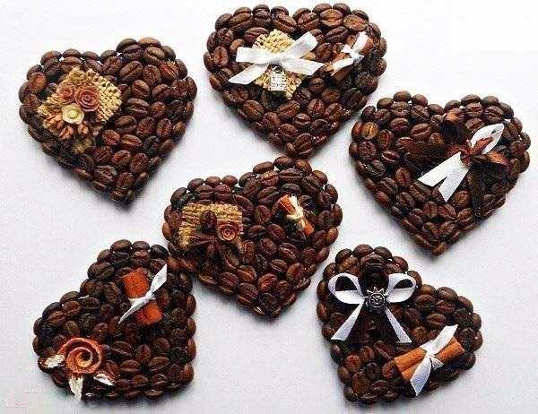Магниты из кофейных зёрен