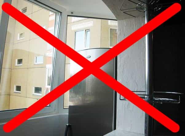 Почему нельзя держать холодильник на балконе