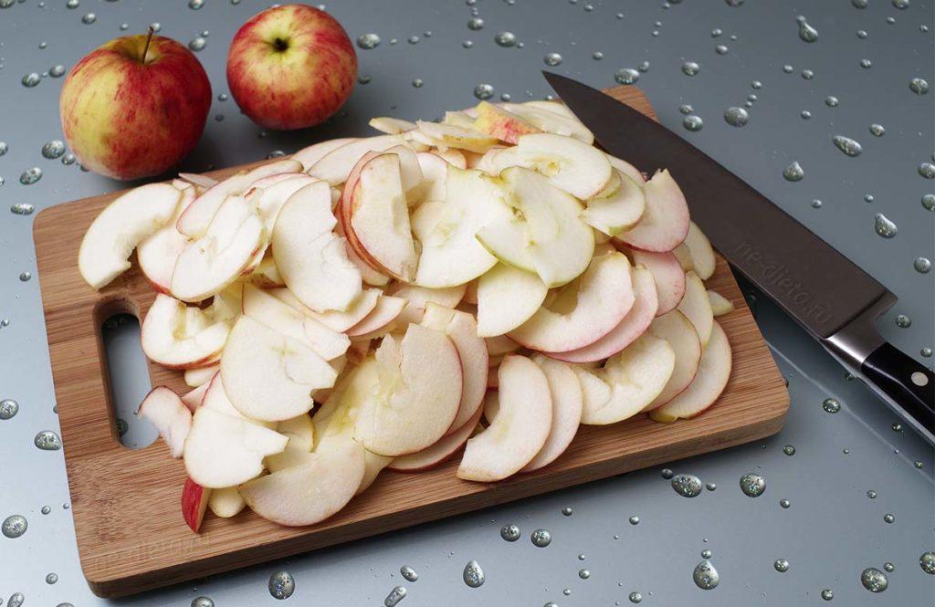 Заморозка яблок в виде долек