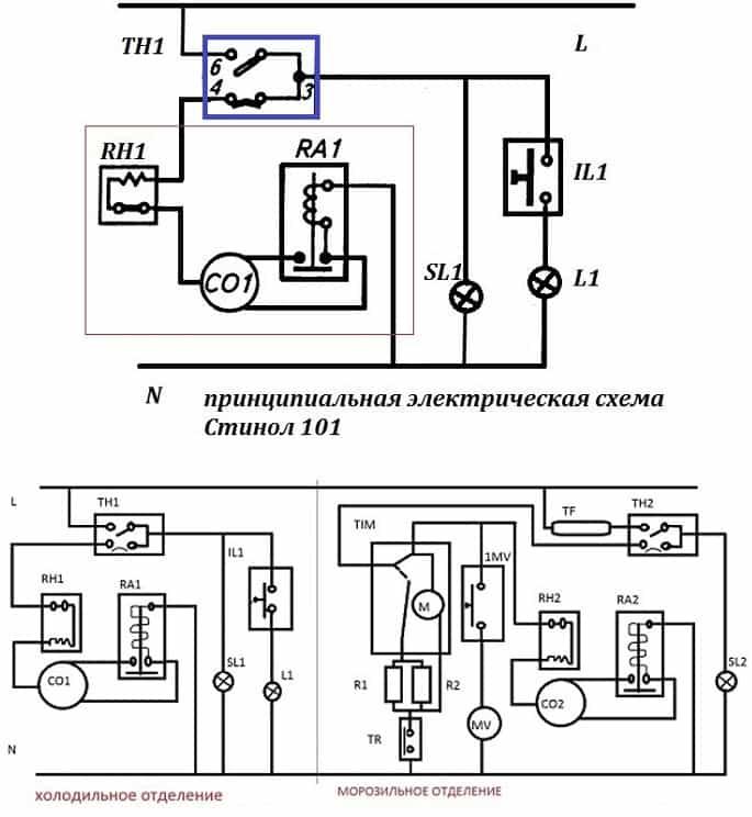 электрическая схема Стинол 102