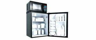 микроволновка на холодильник