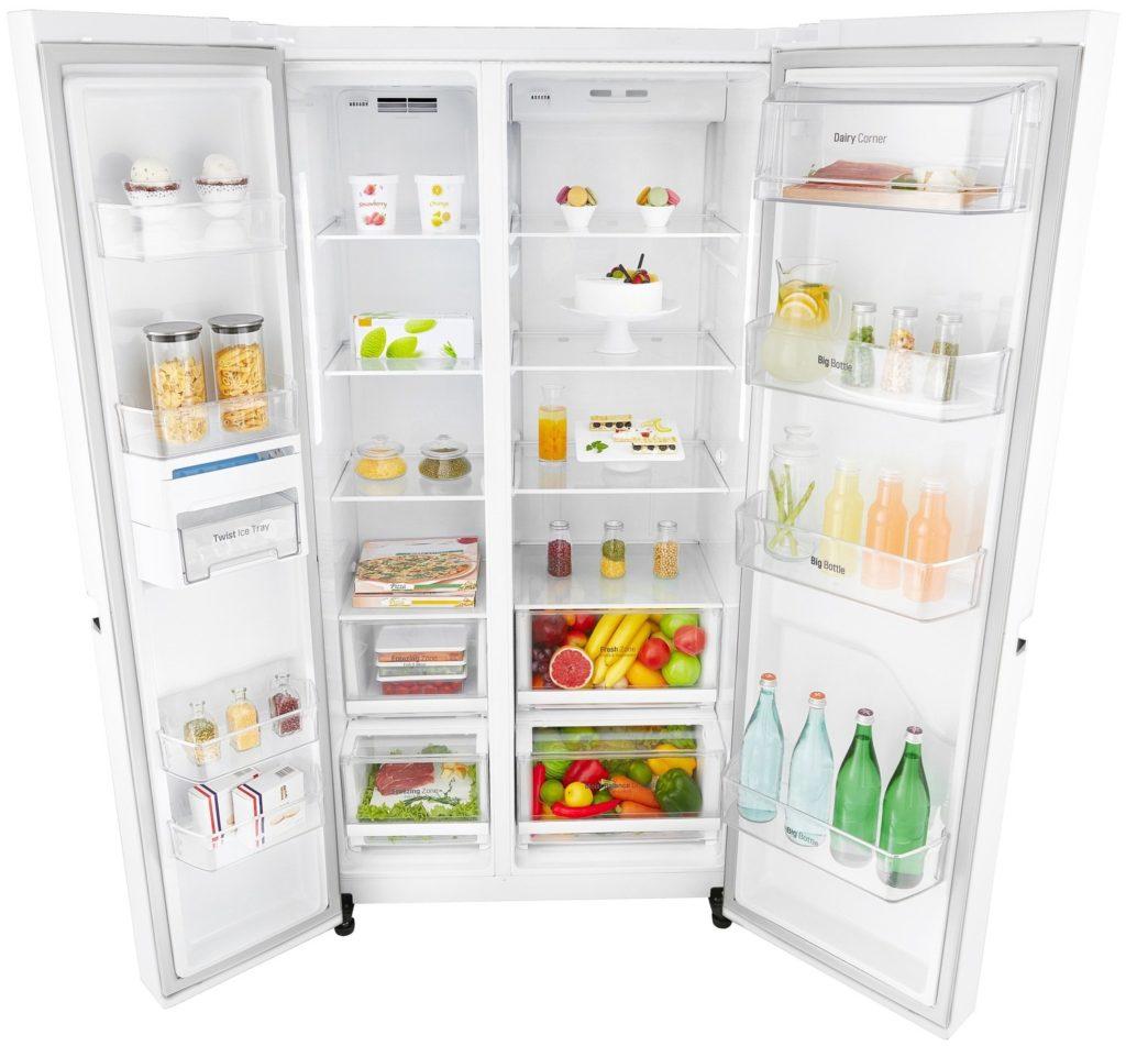 Холодильник «сайд-бай-сайд» LG GC-B247SVUV