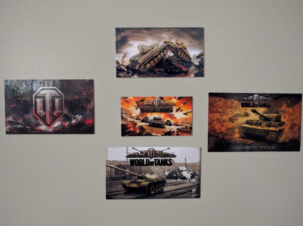 Виниловые магниты World of Tanks