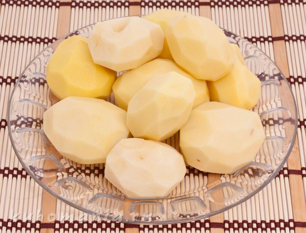 Как заморозить очищенные клубни картофеля