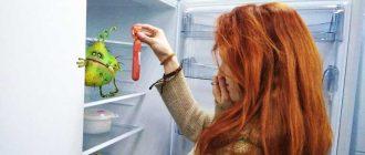 Чем мыть холодильник внутри от запаха?