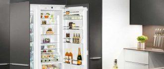 Обзор характеристик и моделей встраиваемых холодильников без морозильной камеры