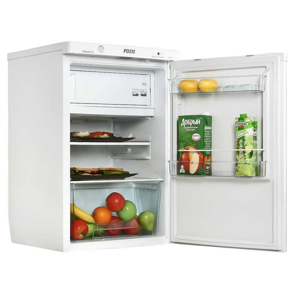 Бытовой холодильник Pozis RS-411 с продуктами